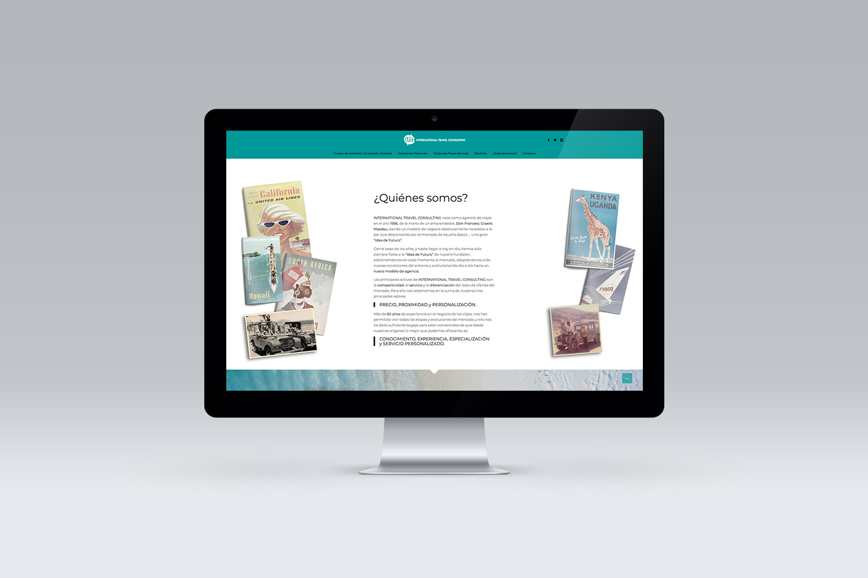 ITC viajes diseño web