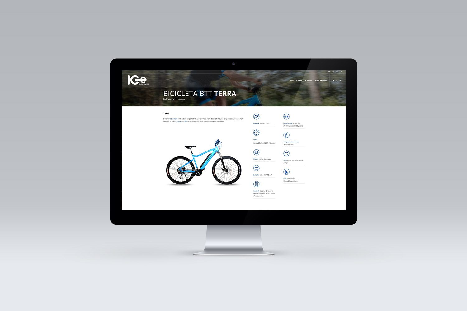 diseño web e-commerce bicicletas electricas