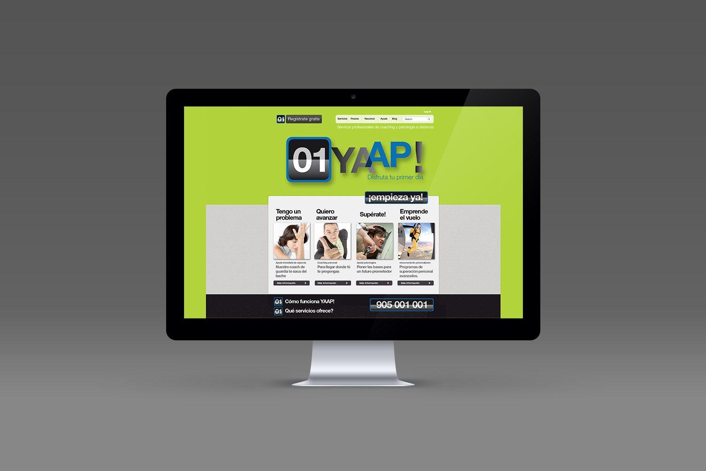 Diseño web yaap. Ferrando Studio